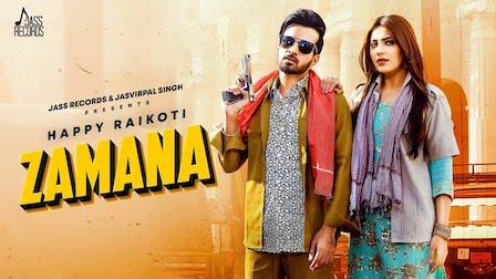 Zamana Lyrics Happy Raikoti | Afsana Khan