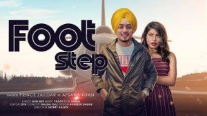 Foot Step Lyrics Prince Zaildar | Afsana Khan