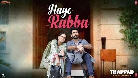 Hayo Rabba Lyrics Thappad