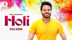 Holi Lyrics Karaj Randhawa