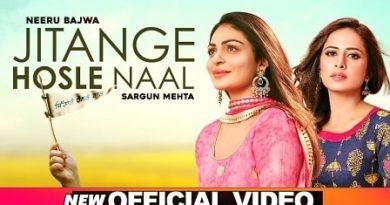 Jitange Hosle Naal Lyrics Afsana Khan | Rza Heer