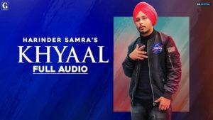 Khyaal Lyrics Harinder Samra
