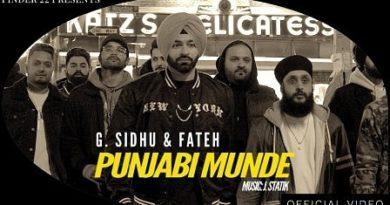 Punjabi Munde Lyrics G. Sidhu   Fateh