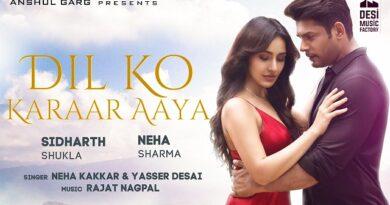 Dil Ko Karaar Aaya Lyrics - Neha Kakkar | Sidharth Shukla