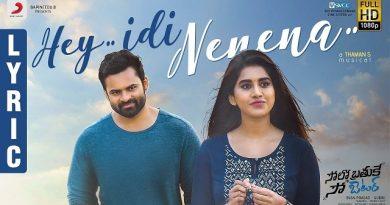 Hey Idi Nenena Lyrics - Solo Brathuke So Better | Sid Sriram