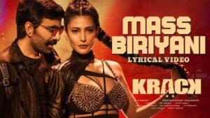 Mass Biriyani Lyrics Krack | Rahul Nambiar