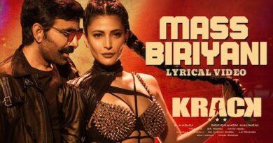 Mass Biriyani Lyrics Krack   Rahul Nambiar