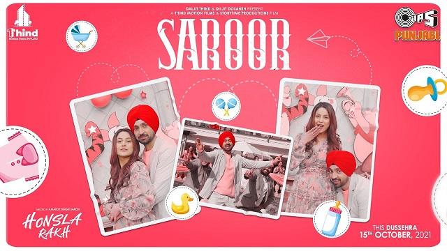Saroor Lyrics Honsla Rakh | Diljit Dosanjh